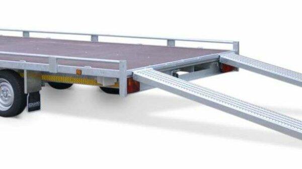 Aanhangwagen Eduard geremd dubbelas HTG 2700 kg type plateau / multi functioneel prijs € 2307.75 ex btw