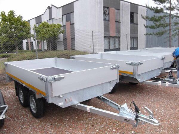Aanhangwagen Eduard ongeremd dubbelas HTG 750 kg type plateau, prijs € 1079.50 ex btw
