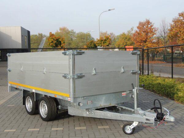 Aanhangwagen Eduard geremd dubbelas HTG 2000 kg type plateau, prijs € 1661,75 ex btw