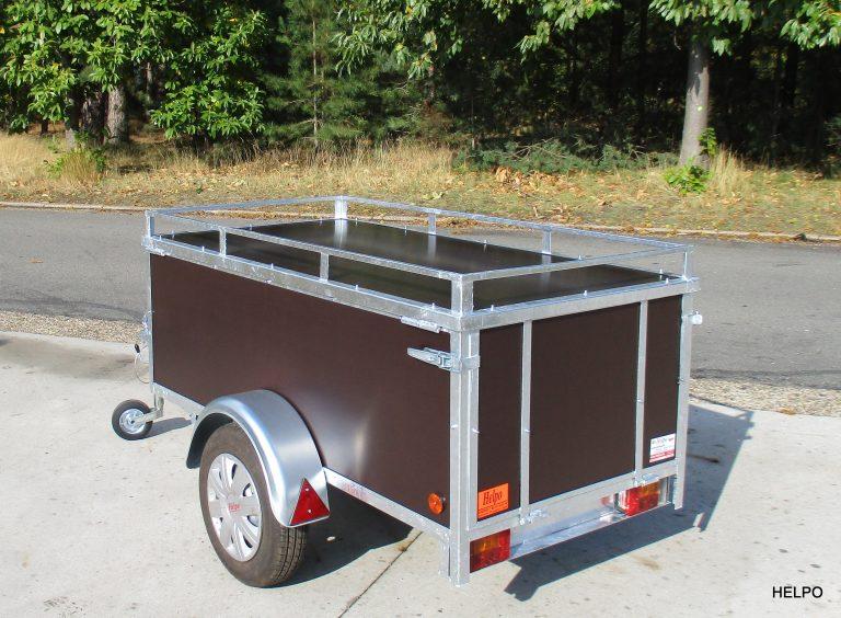 Aanhangwagen Helpo ongeremd HTG 750 kg, Bagage-montage aanhanger. Type HB200