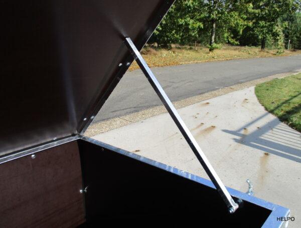 Aanhangwagen Helpo ongeremd HTG 750 kg, Bagage-montage wagen, Type HB 150, prijs € 650 ex btw
