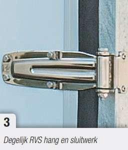Henra gesloten bakwagen 2650mmx 1380 mm Hoog 1600 mm enkelas, htg 1350 kg, prijs € 3125,45 ex. btw