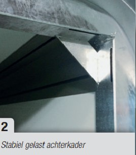 Henra gesloten bakwagen 3150mmx 1580 mm Hoog 1600 mm dubbel-as, htg 2000 kg, prijs € 3912,55 ex. btw