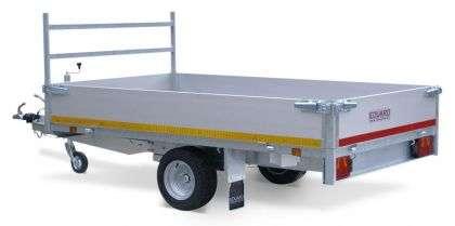 Aanhangwagen Eduard ongeremd dubbelas HTG 750 kg type plateau, prijs € 1156,00 ex btw