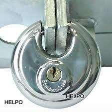 Anti-diefstal slot tas model met cylinderslot Rond 70 mm
