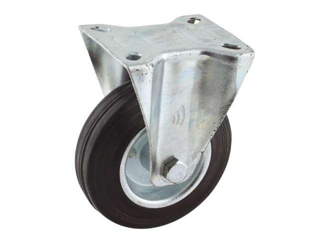 02 Bokwiel, diameter 100x30mm, plaatbevestiging