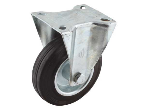 02 Bokwiel, diameter 125x37mm, plaatbevestiging