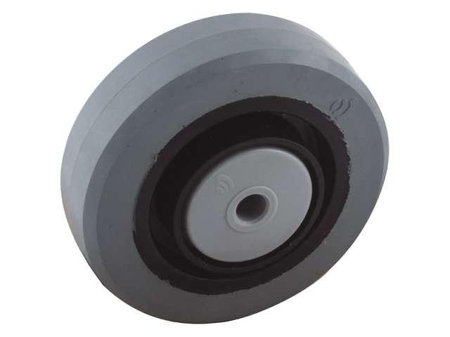 14 Bokwiel, diameter 125x36mm, plaatbevestiging