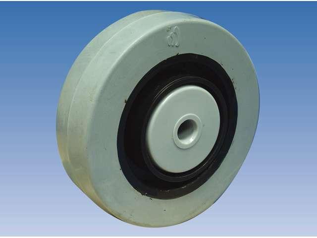 14 Zwenkwiel, diameter 125x36mm, ongeremd, plaatbevestiging