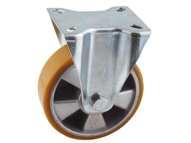 29 Bokwiel, diameter 125x40mm, plaatbevestiging
