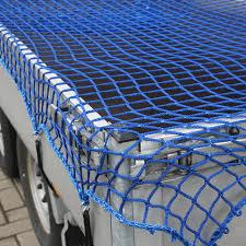 Aanhangwagennet blauw 3000 x 2000 mm mazen 30 x 30 mm met elastiek