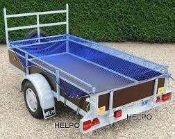 Aanhangwagennet blauw 3500 x2500 mm mazen 30 x 30 mm met elastiek