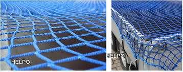 Aanhangwagennet blauw 4000 x2500 mazen 30 x 30 mm met elastiek