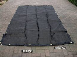 Aanhangwagen gaasnet zwart 2500 x 1600 mm