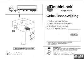 Kingpin Lock, Double Lock, SCM gekeurd