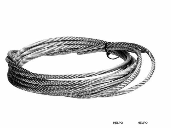 Lier Staalkabel set 8.50 meter, 8mm dik met haak