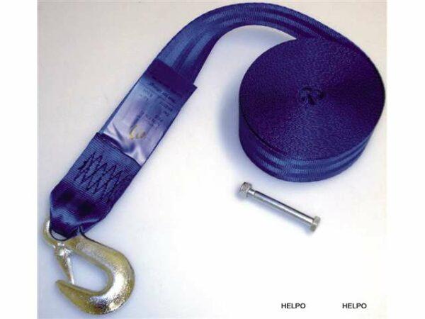 Lierband met lasthaak met klep - zonder CE-keur lengte 9.0 mtr