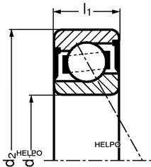 Lager kogel enkel type 6206 open of 2RS