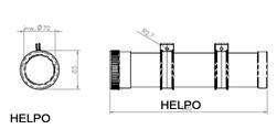 Dokumenten koker ADR - Kunststof L=360 mm- inwendig 70 mm rond