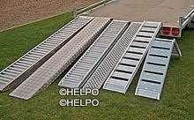 Oprijplaat recht L = 2500 x Br 260 x H 80 mm, 4000 kg per paar