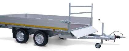 Aanhangwagen Eduard geremd dubbelas HTG 2700 kg type plateau, prijs € 2057,00 ex btw