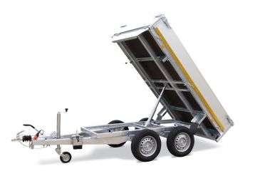 Aanhangwagen Eduard ongeremd dubbelas HTG 750 kg type kipper achterwaards prijs € 1653,25 ex btw