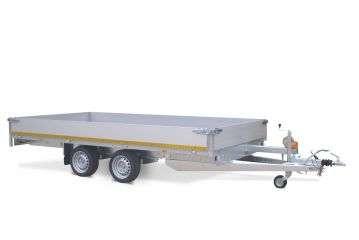 Aanhangwagen Eduard geremd dubbelas HTG 2700 kg type plateau / multi functioneel, prijs € 2698,75 ex btw