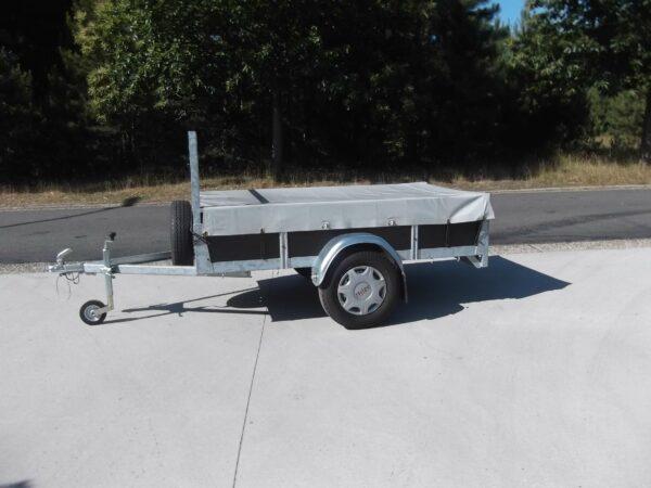 Aanhangwagen Rova, ongeremde enkelas, HTG 750 type MR200.100/75EA