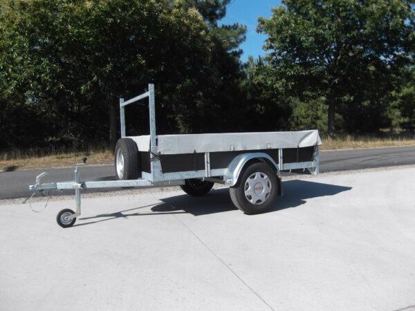 Aanhangwagen Rova, ongeremde enkelas, HTG 750 type MR200.125/75 EA