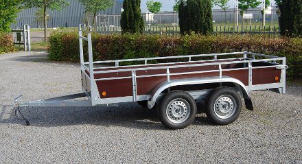 Aanhangwagen Rova, ongeremde dubbelas, HTG 750 type MR258.156/75 DA