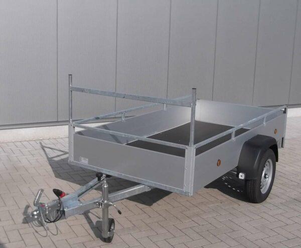 Aanhangwagen Rova, ongeremde enkelas, HTG 750kg type MR258.131/75EA met aluminium schotten,