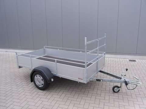 Aanhangwagen Helpo, ongeremde enkelas, HTG 750kg, type PTA200.131/75EA met aluminium schotten