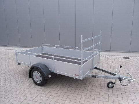Aanhangwagen Helpo, ongeremde dubbelas HTG 750 kg PTA 258.131/75DA met aluminium schotten