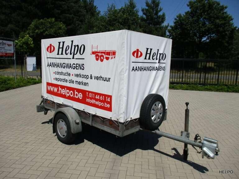 Verhuur nr 6A/6B zeil- / verhuiswagen, ongeremd, enkelas, htg 750kg, 2500mm x 1300mm, hoogte 1500mm dagprijs € 30,00