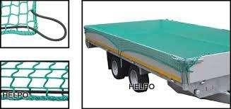 Aanhangwagennet groen 6000x3500mm, mazen 35x35mm pp met elastiek