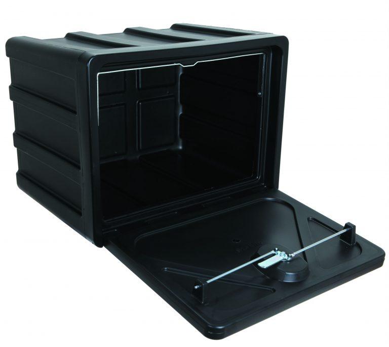 Gereedschapskist kunststof stabilo 500x400x350mm, type 500 + draaikop /slot ondermontage