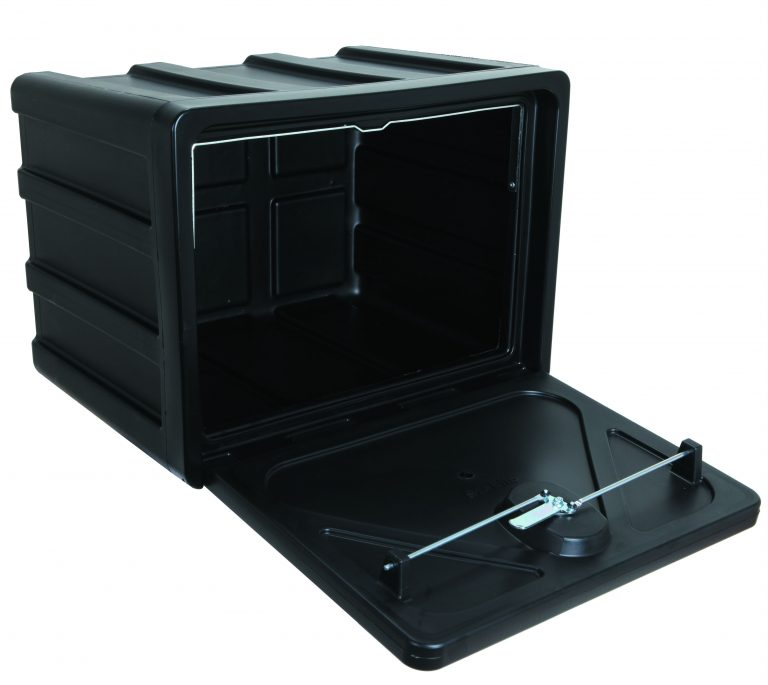 Gereedschapskist kunststof stabilo 600x450x450mm type 600 + draaikop / slot, ondermontage