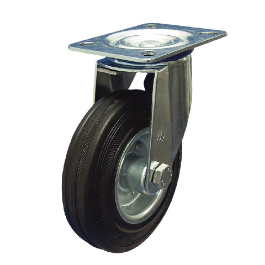 02 Zwenkwiel, diameter 125x37mm, plaatbevestiging